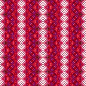 Vibrant Red Striped Diamonds