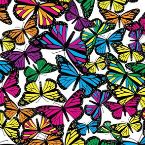 Vibrant Butterfly Collage Small