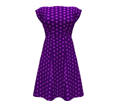 CD31 - LG - Speckled Lilac Polka Dots on Purple