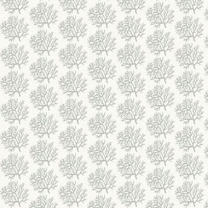 Corals - silver gray -