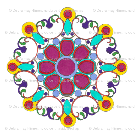 Garden Berry Medallion Giftwrap Debramayhimesasid Spoonflower