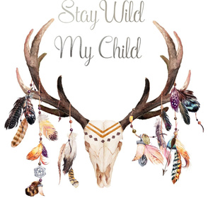 "27""x36"" Stay Wild My Child / 2 to 1 Yard of Minky"