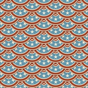 Vintage Flag Scallop - Red, White & Blue