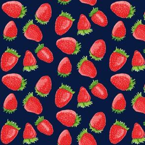 Summer Strawberries // Navy