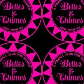 Belles Chimes NY Pop Bumper Pink on Black