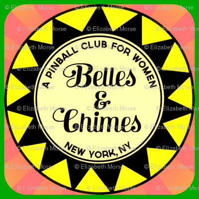 Belles Chimes NY Pop Bumper Square Yellow Pink Green
