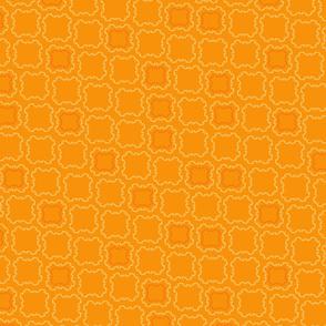 Orange Floral Ribbon