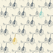 unicycle, bicycle, beige, ivory, blue, mustard, wheel, tire, trip, tour,