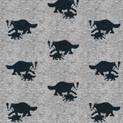 badger, dachshund, animals, grey, gray, black, melange, baby boy, baby girl, boy, girl, kids, family, mother and baby, couple