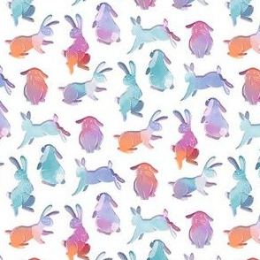 Watercolour Bunny Rabbits