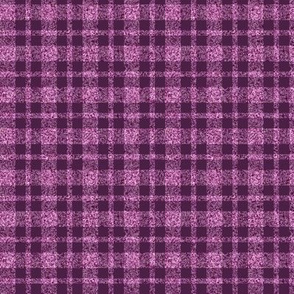 CD30  - Tiny - Speckled  Lilac-Orchid and Eggplant Purple Plaid