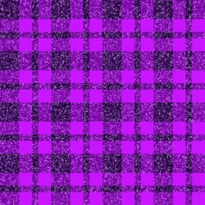 CD31 - Sparkly Purple  Plaid