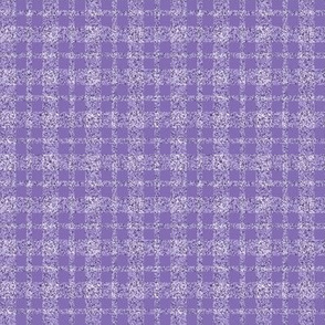 CD32 - Tiny Lavender Sparkle Tartan Plaid
