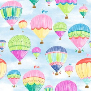 Hot Air Balloons - jewel 8""