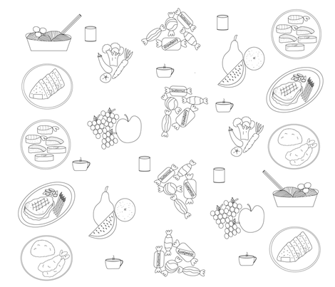 foodfrenzyyummy-01 fabric by arnie on Spoonflower - custom fabric