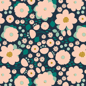 Navy Woodland Floral
