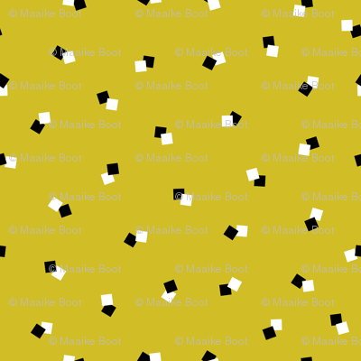 Abstract squares collection cool geometric basic cube design black white and ochre