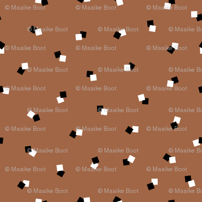 Abstract squares collection cool geometric basic cube design black white and rusty copper
