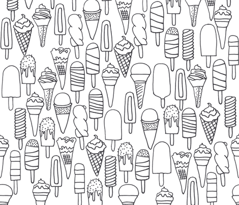 lollies and icecreams fabric by claireybean on Spoonflower - custom fabric