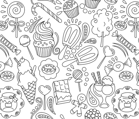 Cute candy fabric by studio_debelle on Spoonflower - custom fabric