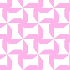 Abstract Windmills pink