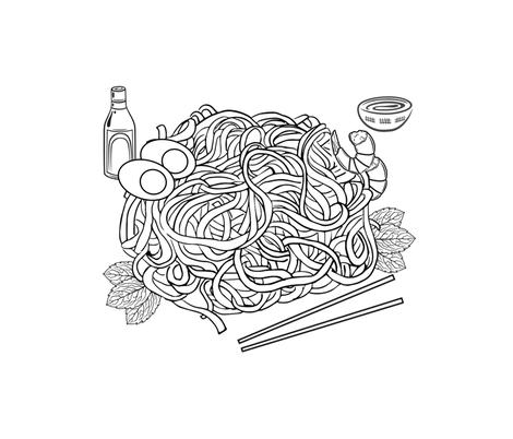noodls fabric by mayada on Spoonflower - custom fabric