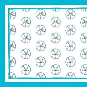 Sand Dollar Tea Towel
