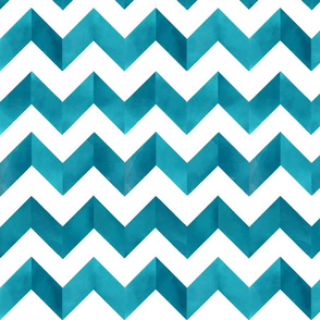 Blue Chevron Watercolour
