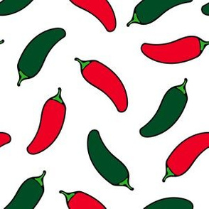 Jalapenos Red and Green Hot Peppers