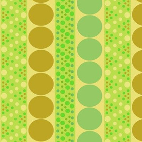 Bubble Stripe in Olive and Lime