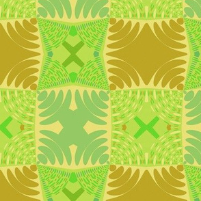Circle Gets the Square in Olive and Lime
