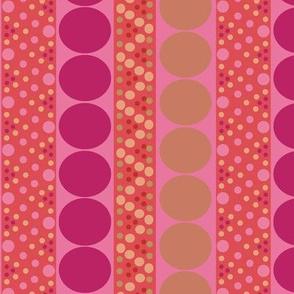 Bubble Stripe in Peach and Raspberry