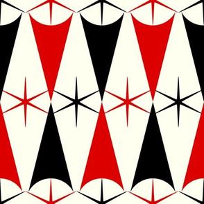 Starburst Harlequin - Red and Black