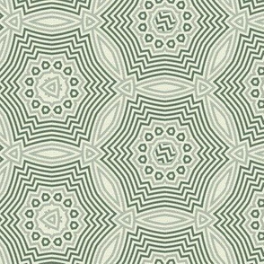 concentric holiday snow - green