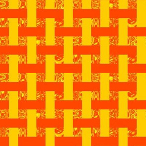 CD36 - Open Weave Abstract Window Gallery in Yellow and Orange