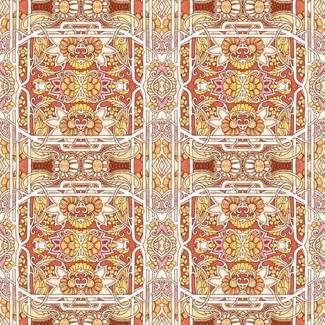 Summer Simmers fabric by edsel2084 on Spoonflower - custom fabric
