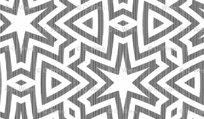 concentric-star in gray