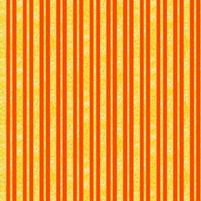 CD36  - Mini Vibrant Speckled Stripe - Yellow and Orange