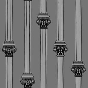 columns on grey