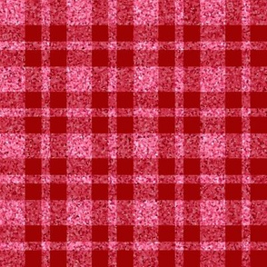 CD37  - Large  Pastel Coral Sparkle and Dusky Red Plaid