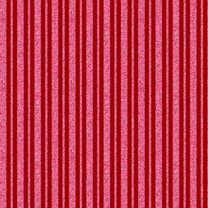CD37  - Mini Pastel Coral Pink Sparkle and Dusky Red Stripe
