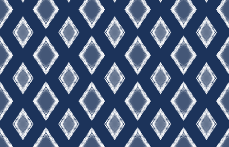 Shibori Indigo 19 fabric by fleamarkettrixie on Spoonflower - custom fabric