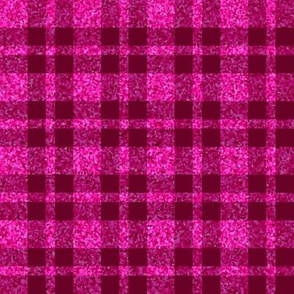 CD38  - Large Wine Red and Hot Pink Sparkle Plaid