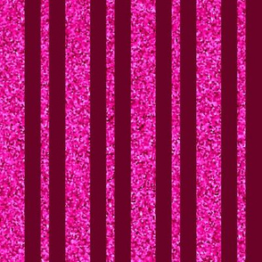 CD38 - Large Wine Red and Hot Pink Sparkle Stripe