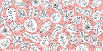 Ditsy Flowers Pink