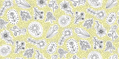 Ditsy Flowers Yellow