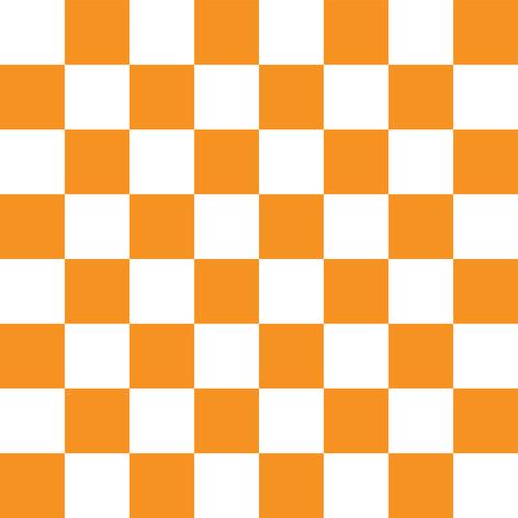 "Checkerboard Orange - 1"" fabric by tinag on Spoonflower - custom fabric"
