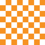 Checkerboard Orange - 1""