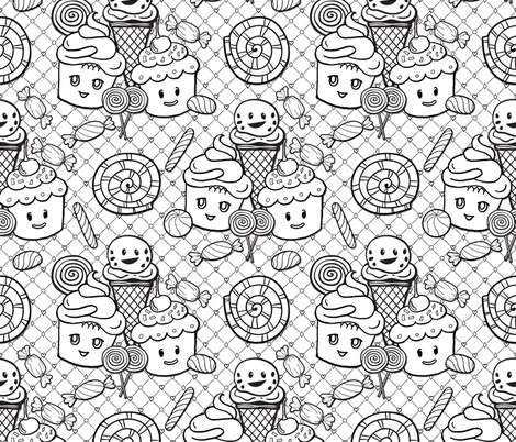 Color Me Candy Treats fabric by xoxotique on Spoonflower - custom fabric