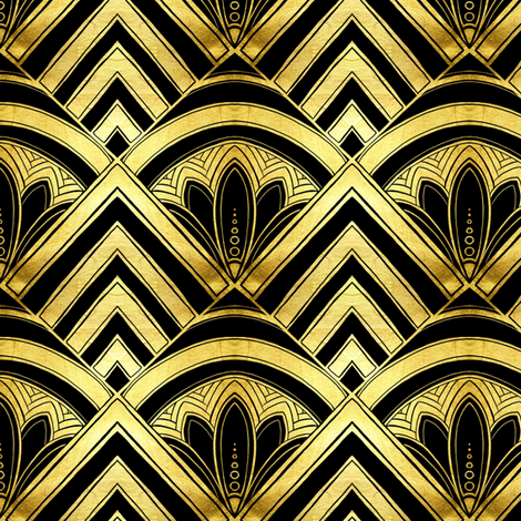 art deco diamond scales fabric by beesocks on Spoonflower - custom fabric